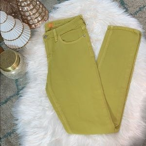 Anthro Pilco Stet Skinny Jeans in Chartreuse